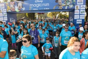 Carreras con niños en Barcelona Disney Magic Run