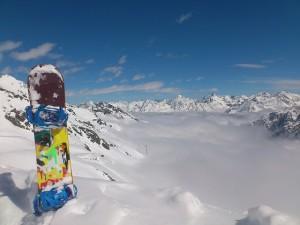 Deportes favoritos para niños en la nieve snowboard