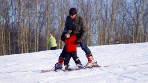 Snowboard en invierno para niños